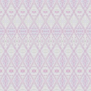 Pastel Pink Diamonds Geometric © Gingezel 2012