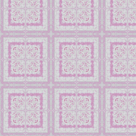 Lacy Pink Tile © Gingezel 2012 fabric by gingezel on Spoonflower - custom fabric