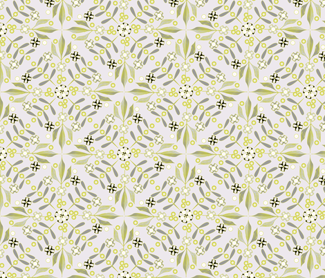 Leaves and Berries by 4 Twist - Winter Haven fabric by glimmericks on Spoonflower - custom fabric