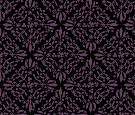 Leaves and Berries by 4 Twist - Blackberry fabric by glimmericks on Spoonflower - custom fabric