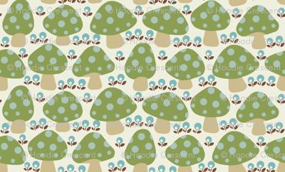 Dottie_mushrooms_Green