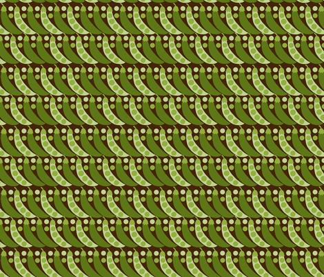 Peas fabric by hoodiecrescent&stars on Spoonflower - custom fabric
