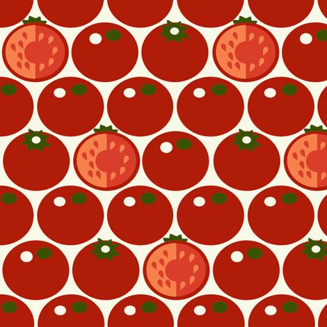 Tomato fabric by hoodiecrescent&stars on Spoonflower - custom fabric