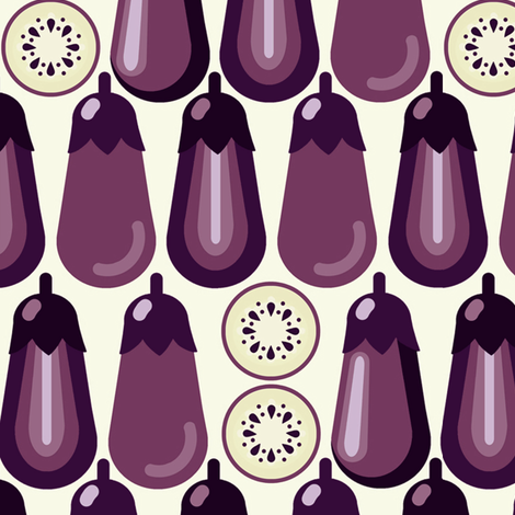Eggplant fabric by hoodiecrescent&stars on Spoonflower - custom fabric