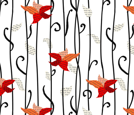 Flowers and Leaves fabric by conteximus on Spoonflower - custom fabric