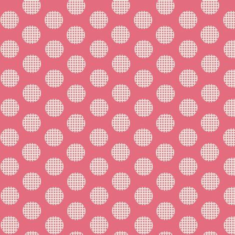 Waffle Dot / Pink fabric by hoodiecrescent&stars on Spoonflower - custom fabric
