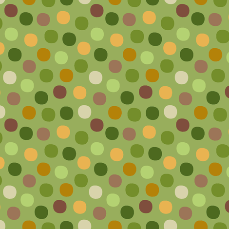 Candy_dots_Peas fabric by hoodiecrescent&stars on Spoonflower - custom fabric