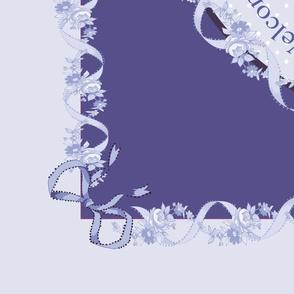 Grandma's china tea towel (Lilac)