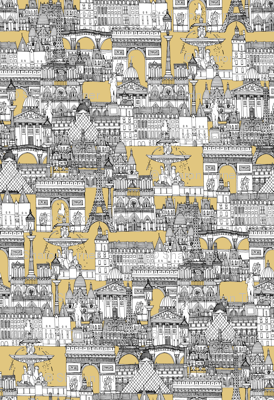 Paris toile gold