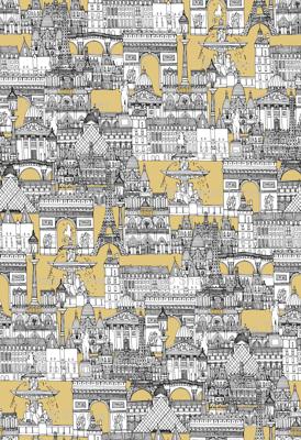Paris toile gold