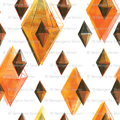 Orange Facets