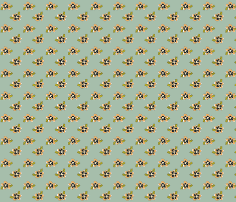 Chick_Chick_Yellow_Flowers fabric by lana_gordon_rast_ on Spoonflower - custom fabric
