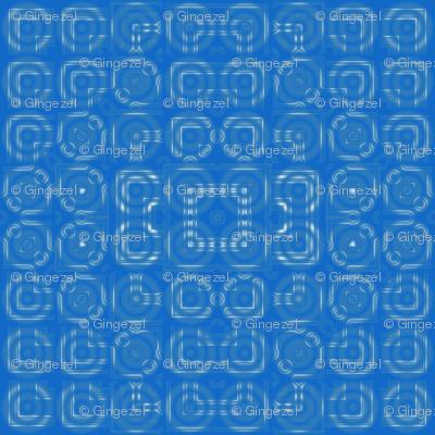 Blue Circles Geometric © Gingezel™ 2012