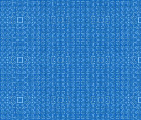 Blue Circles Geometric © Gingezel™ 2012 fabric by gingezel on Spoonflower - custom fabric