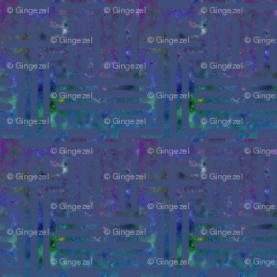 Blue and Purple Tiled Abstract © Gingezel™ 2012
