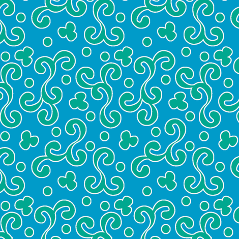 ©2011 curliques ocean splash  fabric by glimmericks on Spoonflower - custom fabric