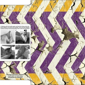 Peeling Chevrons Cut and Sew Grocery Bag(s) in Purple and Yellow