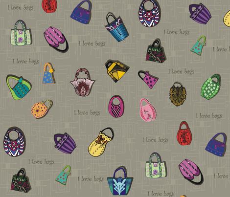 I_love_bags fabric by kirpa on Spoonflower - custom fabric