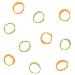 Painted Retro Circles orange green