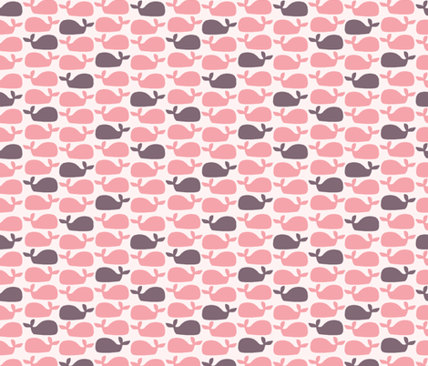 Whales (light) fabric by mondaland on Spoonflower - custom fabric