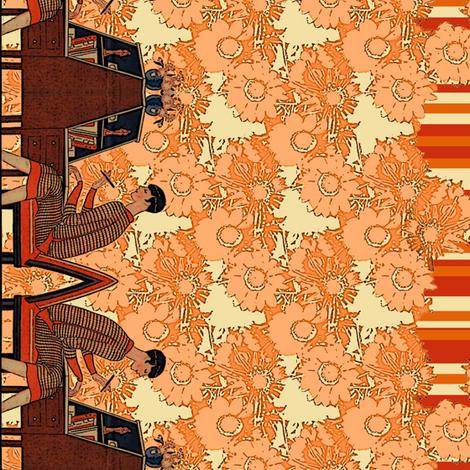 authoress border print fabric by nalo_hopkinson on Spoonflower - custom fabric
