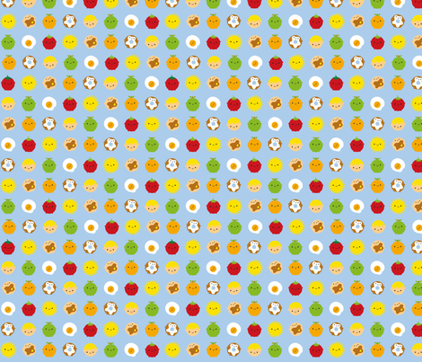Kawaii Breakfast fabric by marcelinesmith on Spoonflower - custom fabric