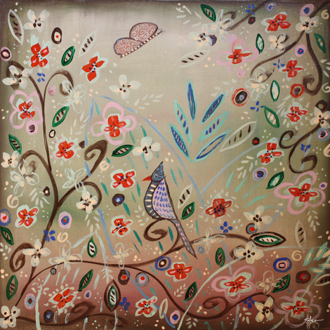 The Wedding Garden fabric by kristenstein on Spoonflower - custom fabric