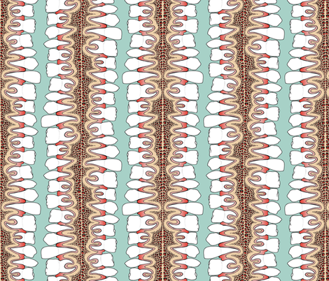 Teeth in gums fabric by sufficiency on Spoonflower - custom fabric