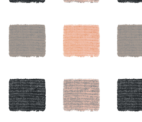 linen_squares_peach__gray_white fabric by karenharveycox on Spoonflower - custom fabric