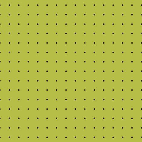 Damask_Black_Dots_on_Green fabric by lana_gordon_rast_ on Spoonflower - custom fabric