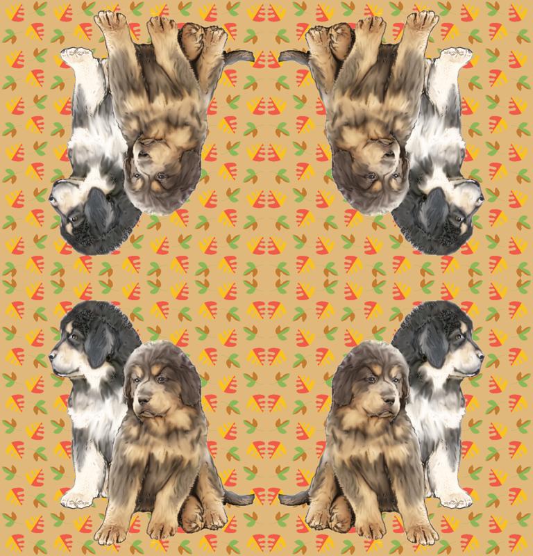 Tibetan Mastiff Puppies wallpaper - dogdaze_ - Spoonflower