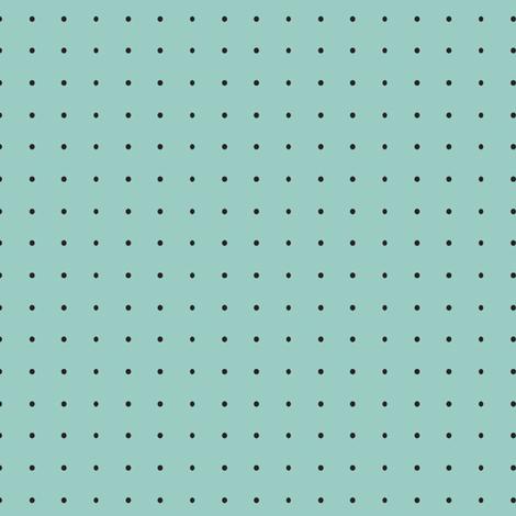Damask_black_dots_on_turquoise fabric by lana_gordon_rast_ on Spoonflower - custom fabric