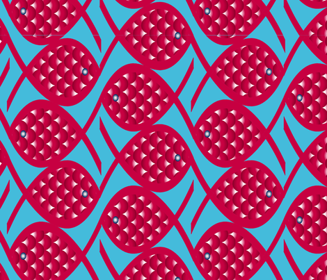 poisson chinois en maille fabric by nadja_petremand on Spoonflower - custom fabric