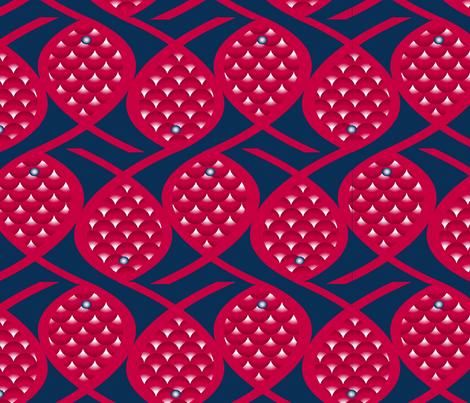 poisson chinois mélé fabric by nadja_petremand on Spoonflower - custom fabric