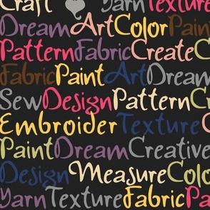 Creative Words - Multi on Black