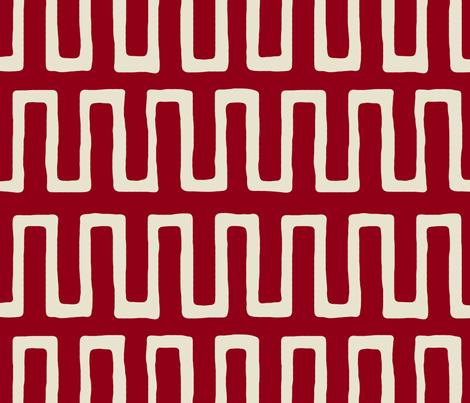 Urn in carmine fabric by domesticate on Spoonflower - custom fabric