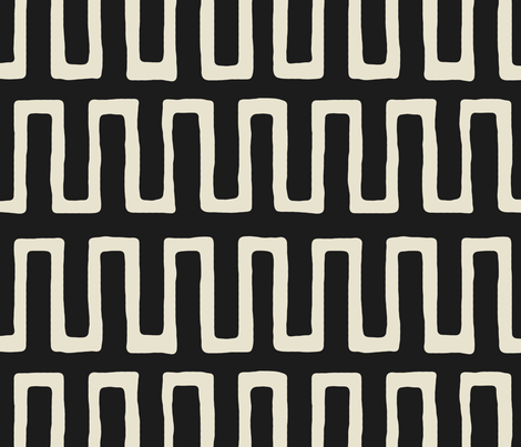 Urn in ebony fabric by domesticate on Spoonflower - custom fabric