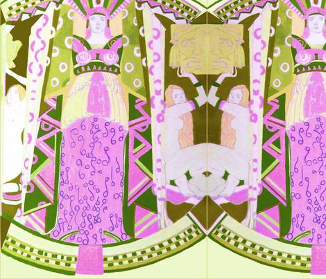 Deco Mythology- Lavender fabric by bettieblue_designs on Spoonflower - custom fabric