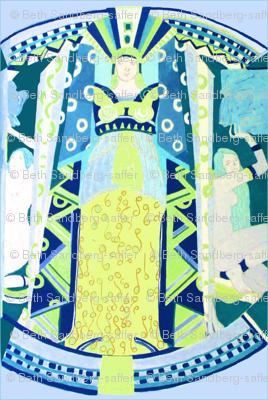 Deco Mythology - Blue