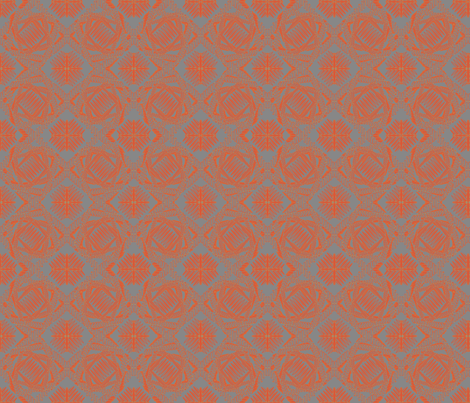 crazy_weave orange goache fabric by glimmericks on Spoonflower - custom fabric