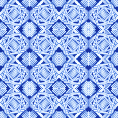 crazy_weave blue neon fabric by glimmericks on Spoonflower - custom fabric