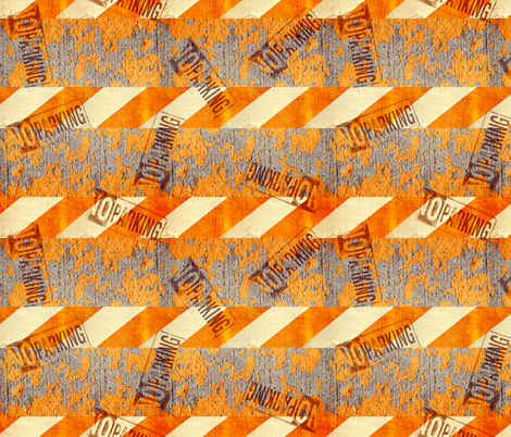 NO PARKING fabric by robyriker on Spoonflower - custom fabric