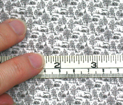 Micro Mini Toile dollhouse fabric - Black ©2012 by Jane Walker