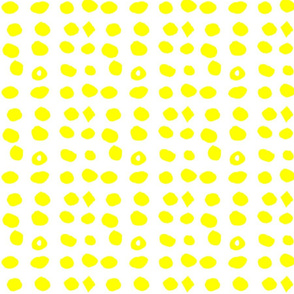 Edgy Dots Yellow by Hahma