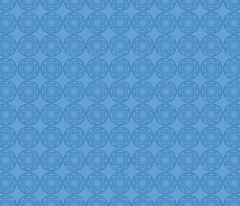 Blue geometric fabric by alexsan on Spoonflower - custom fabric