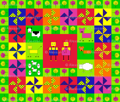 Robot farm cheater quilt fq