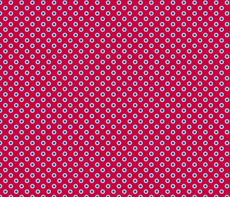 pois bleu fond rouge S fabric by nadja_petremand on Spoonflower - custom fabric