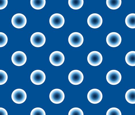 pois bleu fond bleu fabric by nadja_petremand on Spoonflower - custom fabric