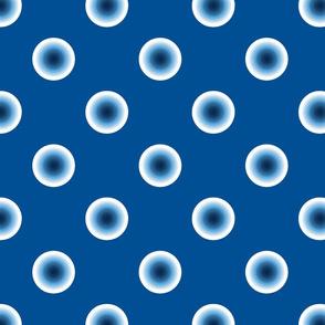 pois bleu fond bleu