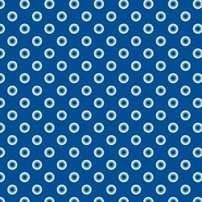 pois bleu fond bleu S